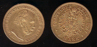 5 Mark Gold Preussen 1877 A !