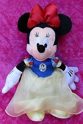 """Disney ~ MINNIE MOUSE IN SNOW WHITE DRESS ~ 13"""" Soft Plush Toy Clubhouse"""