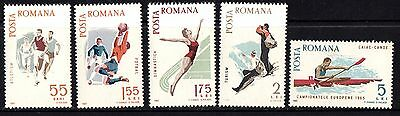 Romania 1965 Sports  Complete Set of Stamps MNH