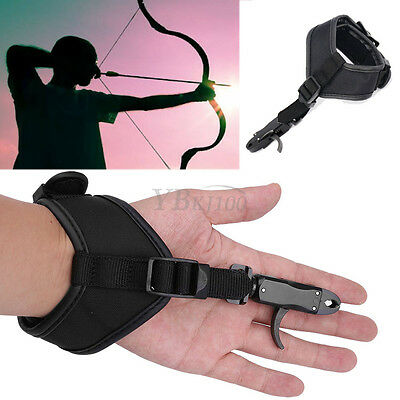 NEW Archery Accessorie Compound Bow Wrist Band Release Aids Gear Hardcore Buckle