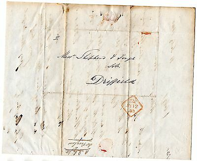 Pre-stamp cover entire to Driffield July 12 1840