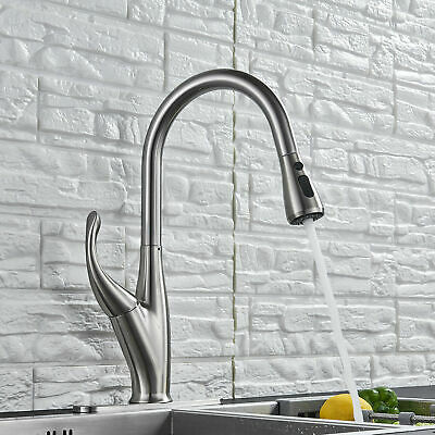 Single Handle Kitchen Faucet Commercial Pre-rinse Oil Rubbed Bronze High Arch US