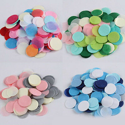 900Pcs/Pack Tissue Round Paper Throwing Confetti Party Wedding Table Supplies