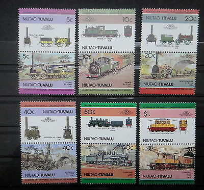 TUVALU NIUTAO TRAIN LOCOMOTIVE stamps SET  - MNH -VF r3b760
