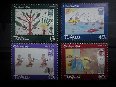 TUVALU 1984 CHRISTMAS FISH CRECHE stamps SET - MNH - VF - r3b737