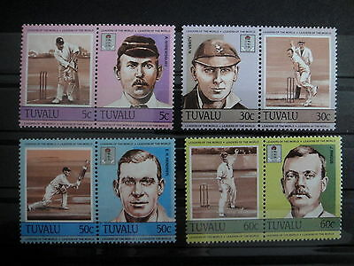 TUVALU 1984 SPORT CRICKET stamps SET - MNH -VF r3b755