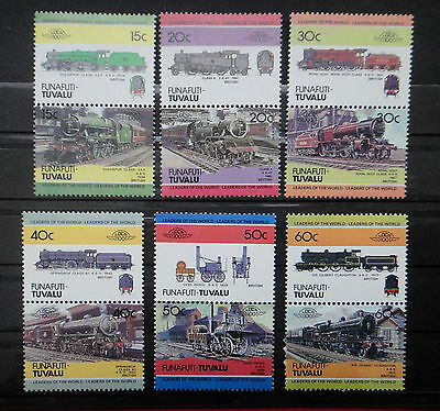 TUVALU FUNAFUTI TRAIN LOCOMOTIVE stamps SET  - MNH -VF r3b759