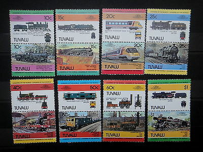 TUVALU 1984 TRAIN LOCOMOTIVE stamps SET  - MNH -VF r3b761