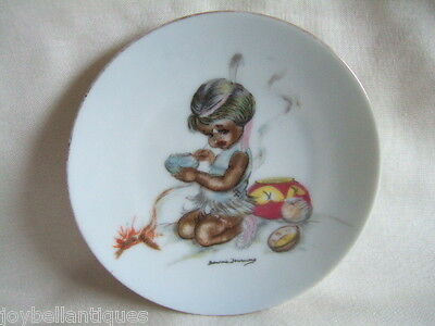 Brownie Downing.  Small Dish /Plaque.   Native Indian.  Black Girl.