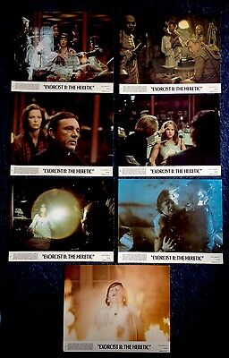 EXORCIST 2 THE HERETIC (1977) 7 x Original Lobby Cards UK Classic Horror Sequel
