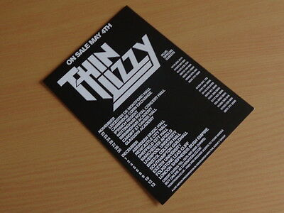 Thin Lizzy UK Tour 2007 A5 Cardboard Flyer (Mint Condition!)