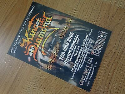 King Diamond Blind Guardian London Shows 2006 Postcard-Size Double-Sided Flyer