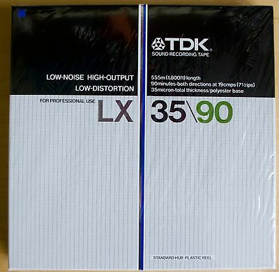 TDK LX 35/90 Sound Recording Tape unused and sealed