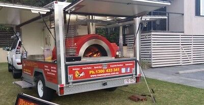Woodfired pizza trailer