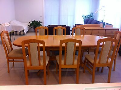hardwood dining table with 8 matching chairs australian made aud