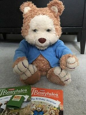 Hasbro Playskool Tj Bearytales Story Reading animated Teddy Bear Beary Tales