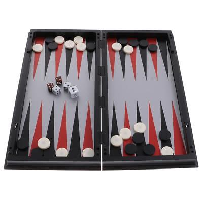 3 In 1 Magnetic Board Chess Checkers Backgammon Set Travel Game 31.5x15.6cm