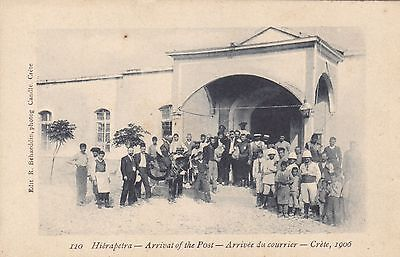 Greece  Crete  Vintage 1900 - 1910 Hierapetra-Arrival Of The Post'-Bahaeddin 110