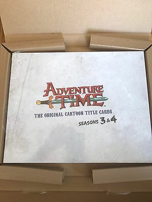 Adventure Time Cartoon Title Cards Seasons 3 &4 Signed Ltd Ed To 100 Copies Book