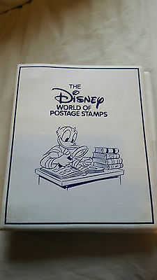 The Disney World of Postage Stamps Vintage Collection Folder 230 Stamps