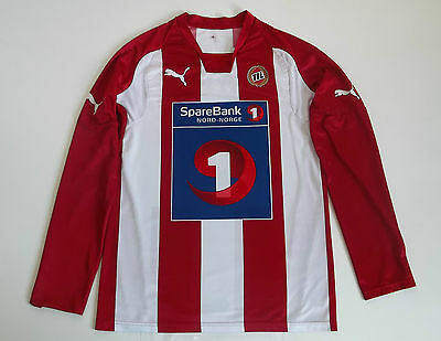 Tromso IL 2009 #14 Home Player Issue Long Sleeve LS Puma Shirt size S Norway