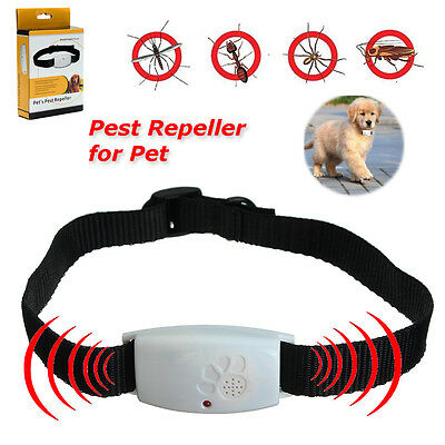 Ultrasonic Mosquito Bug Pest Repellent Repeller Dispeller Collar For Pet Dog Cat