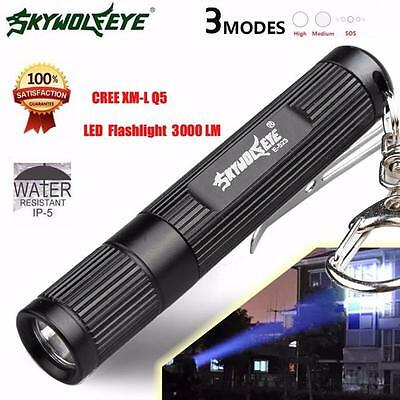 3000LM Zoomable CREE Q5 LED Flashlight 3 Mode Torch Super Bright Light Lamp