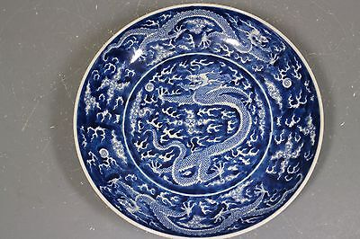 beautiful chinese blue and white porcelain plate