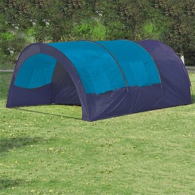 Outdoor Blue Family 6 Person Camping Tent Beach Swag Hiking Canvas Shelter