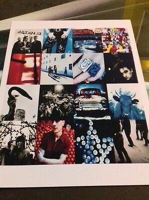 U2 Achtung Baby A3 print super quality heavy canvas paper