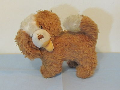 Vintage Stuffed Saint Bernard Toy Dog w/ Working Squeeze Barker (S)