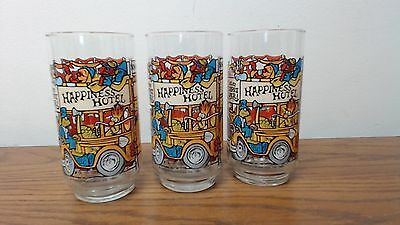 Set of 3 1981 Happiness Hotel The Great Muppet Caper McDonalds Glasses