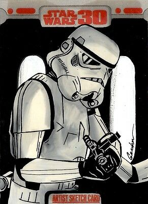 Star Wars 30th Anniversary Sketch Card, Stormtrooper Kevin Graham, Puzzle