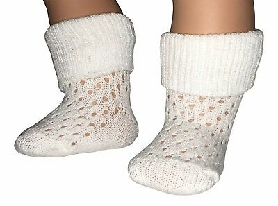 Baby Socks 3 Pairs Dotty Design Turn over Top UK made Sizes premature to Toddler