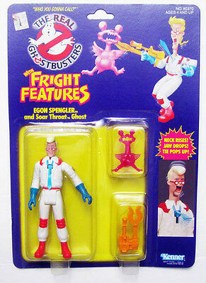 1986 Kenner Ghostbusters Egon Spengler Soar Throat Ghost Fright Figure Sealed