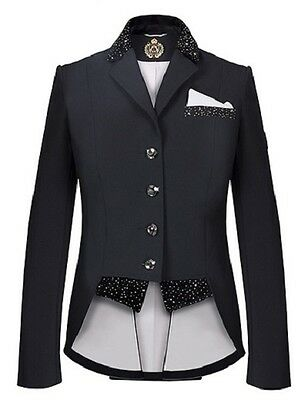 New!! Fair Play Girl's  Bea  Short Tail Dressage  Jacket In Black