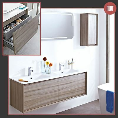 """Zeus"" Nilo Designer Wall Hung Bathroom Furniture (4 Worktop OR Basin Choices)"