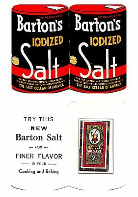 Vintage BARTON'S IODIZED SALT Advertising Sewing NEEDLE BOOK Authentic NEW