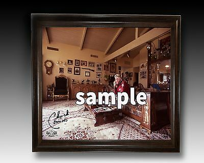 Chuck Connor's Autographed Photo of Him in his Home.+Lennon postcards