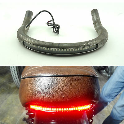 Cafe Racer Upswept Seat Frame Hoop Loop with LED Brake Turn Tail Light CB XS