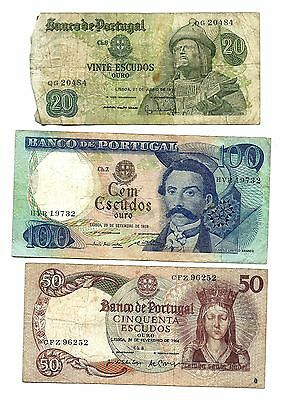Portugal 3 Banknotes