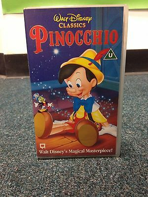 The Pinocchio VHS Video Classic Disney Collectible Very Rare