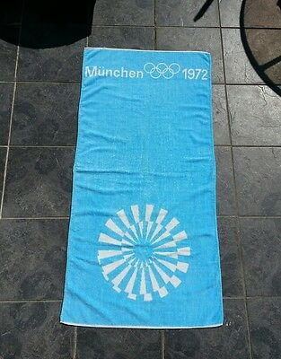 Munich Olympics 1972  Athletes Towel Olympic Games RARE