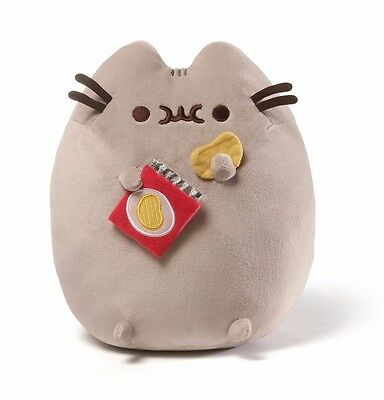 "Gund 9.5"" PLUSH PUSHEEN SNACKABLE with POTATO CHIPS ~NEW~"