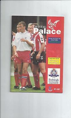 Crystal Palace v Tranmere Rovers Football Programme 1993/94