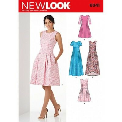 New Look Misses' Dress in Three Lengths Sewing Pattern 6341