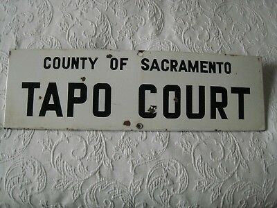 County of Sacramento PORCELAIN SIGN Early California   STREET / Highway / ROAD