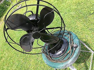 Antique EMERSON variable speed, Oscillating, Cast Iron Fan Circa 1930  #73646 AK