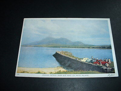 IRELAND  POSTCARD CROAGH PATRICK FROM OLD HEAD Co MAYO