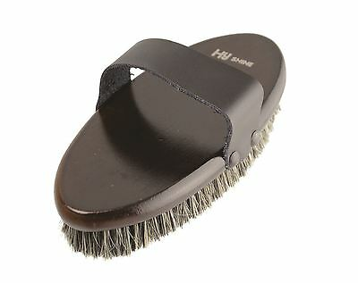 HySHINE Deluxe Body Brush with Horse Hair Mixed with Pig Bristles 10484
